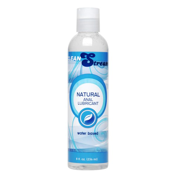 CleanStream Natural Water-Based Anal Lube has a silky smooth gliding texture that provides maximum comfort