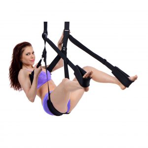 Swing into action with The Trinity Sex Swing. The variety of positions that can be enjoyed with this swing will defiently help spice up your love life. The swing has padded supports for your back
