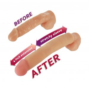 Are you ready to add 4 inches to the length of your cock? Slide into the Long John Penis Extender and your wish is granted A stretchy sleeve fits snugly around your shaft