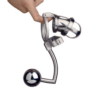 The Deluxe Extreme Chastity Cage combines the power of chastity with the stimulation of a ball restraint