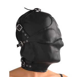 This versatile hood offers many different sensory deprivation options for a wide variety of play for you and your partner. A full hood of soft