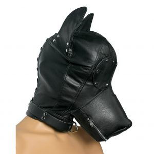 Has your naughty little pup been acting like a filthy beast? This canine hood will bring out the animal in them. Crafted in fine genuine leather with a soft feel