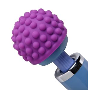 Slip this soft silicone head over the top of your standard size wand and let it massage you into a state of complete bliss. The cap gently disperses the vibration from your wand to each of the rounded sensation nodes