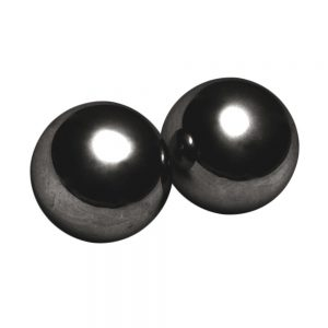 This devious set of two 1 inch magnetized Kegel balls pack some serious pressure Once inside