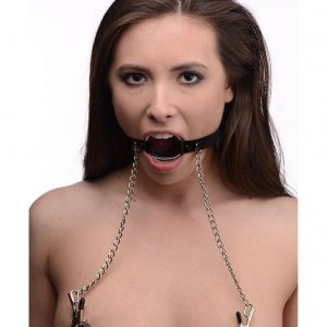Seize them with this dual featured O-Ring Gag and Nipple Clamp set. Affixing the O-ring inside the mouth of your playing and securing it by way of the sturdy