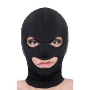 This devious disguise is designed to be comfortable and stretch completely over the head. This lightweight hood features an opening for both the eyes and both and will not hamper breathing or limit eyesight. The exposed mouth leaves open all kinds of naughty possibilities