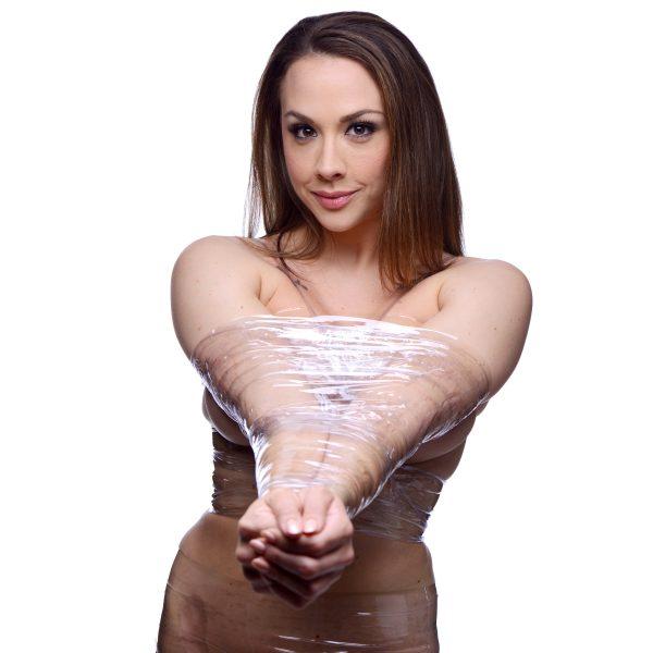 This skin friendly bondage tape sticks to itself