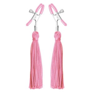 Adorn yourself with these sexy pink nipple tassels from Frisky Soft cotton candy colored tassels will dangle enticingly from your nipples