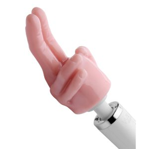 This two finger design allows you to zero in on your pleasure center The life size