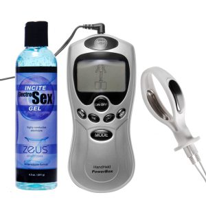 This 3 piece set is specially designed for women who want to enjoy thrilling estim play