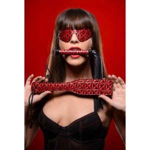 This 3 piece set from Crimson Tied combines our matching impact toys with a blackout blindfold for thrilling sensory play. Restricting their sight heightens anticipation