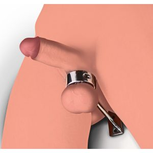 Pin their balls to the floor and experience the ultimate in humiliation and control with this unique bondage piece. Designed to clamp down around the scrotum