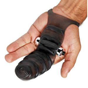 This uniquely shaped vibrating G-spot stimulator will take fingering your partner to a whole new level. The waterproof textured finger sleeves slips over your first two fingers