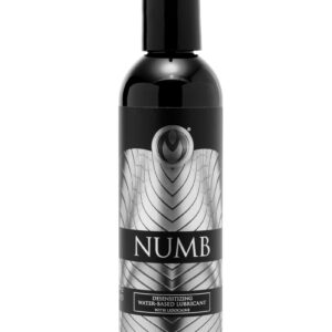 Enhance your sexual experiences by easing discomfort and increasing pleasure Numb Desensitizing Lubricant is water-based for use with all materials