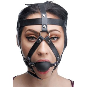 Trap your lover in the confines of this secure and attractive head harness