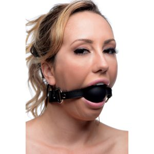 Pry your submissives mouth wider open than with any ball gag you have used in the past The astounding 2 inch diameter of this ball gag is just the right size to stuff into that bratty mouth to shut your slave up Made of premium and phthalate-free silicone
