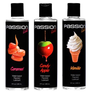 Enjoy three new and exciting flavors of Passion Licks with one mouth-watering set that is completely body-friendly There is absolutely no sugar or artificial sweeteners used in these formulas Who can choose between caramel