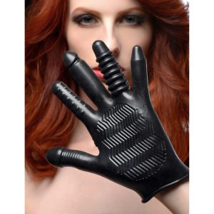 This textured glove is so versatile that it may become a staple in all of your sexual experiences So many ways to use... finger