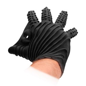 The Fist It Silicone Glove comes with dotted textures on the 4 fingers