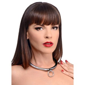 Adorn your slave in a symbol of their complete surrender to submission. This beautiful and heavy-duty collar is made of stainless steel
