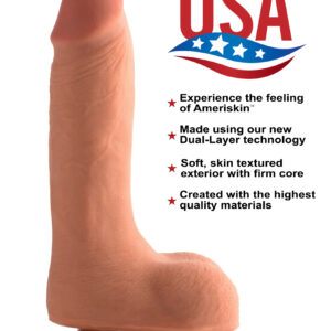 Average length and girth with a defined shape This beautiful dildo will deliver orgasmic ecstasy with its precise representation of medium-sized manmeat. Savor every ridge and ripple in the realistic penis and scrotum