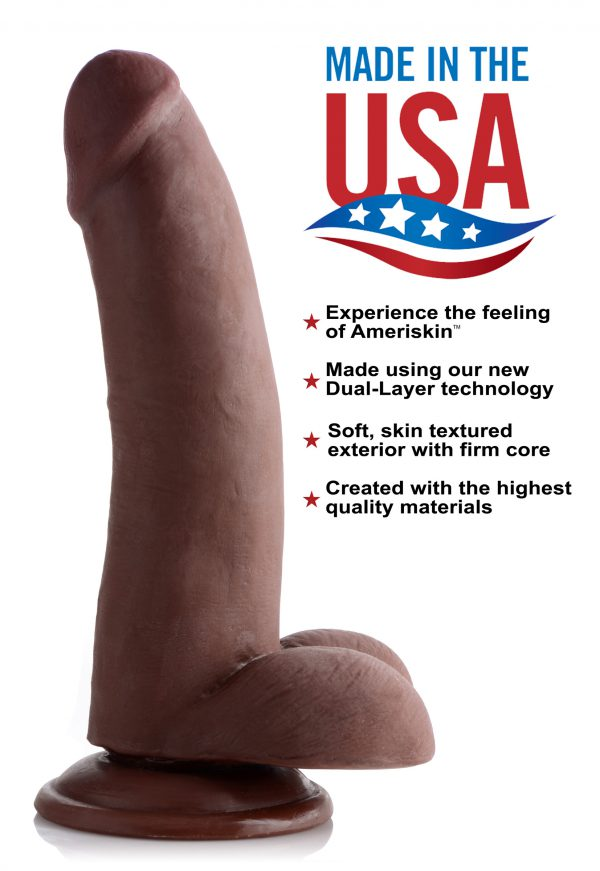Sink this silky-smooth shaft into your hungry hole This gorgeous dildo will deliver orgasmic ecstasy with its precise representation of a beautiful boner Savor every ridge and ripple in the realistic penis and scrotum