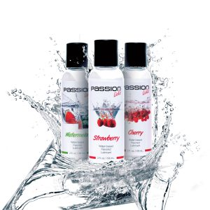 This trio of 2 ounce lubricants allows you to conduct a taste test as you figure out which flavor you like best Enjoy all three flavors of Passion Licks with one mouth-watering set that is completely body-friendly. There are absolutely no sugar or artificial sweeteners used in these formulas Who can choose between cherry