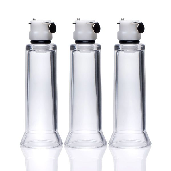 Suction provides exquisite sensation and enhanced sensitivity Three small cylinders connect to a compatible pumping device to pinpoint pleasure on nipples