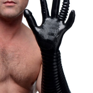 Give your hand some texture during fisting play This long glove is so versatile that it may become a staple in all of your sexual experiences So many ways to use aside from full-fist penetration... finger