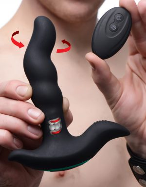 Discover new sensations in P-spot pleasure This premium silicone prostate massager vibrates powerfully inside your booty
