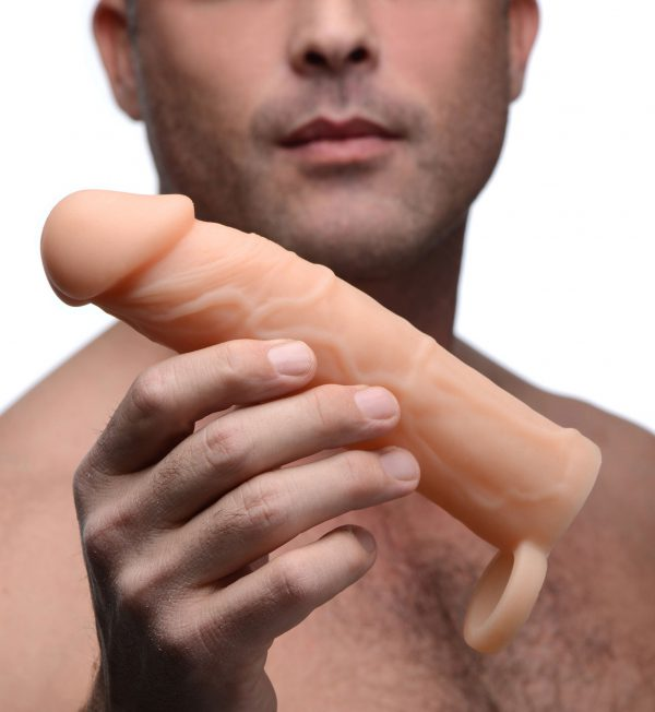 This premium silicone erection enhancer gives you at least 2 inches of added length