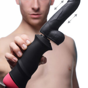Experience ultra-powerful pounding action with this hand-held thrusting dildo. Discover the 2 intense speeds from the industrial motor