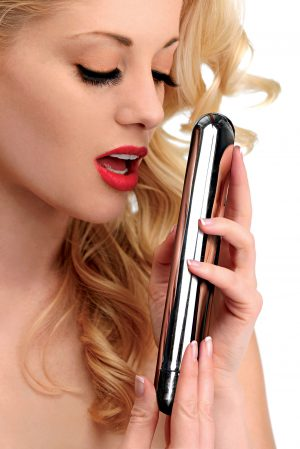 The classic bullet vibrator just got a huge new makeover! This extra-large pleasure tool is rechargeable and features 3 speeds of inside vibration that can be enjoyed externally and internally. Savor the sleek sensation as the vibes smoothness slides against your most sensitive parts