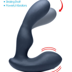 Pamper your prostate with both vibration and stroking sensations. The 7x P-Stroke can be used with or without the remote control to cycle through 7 vibration settings that pulse and throb inside your hole. Meanwhile