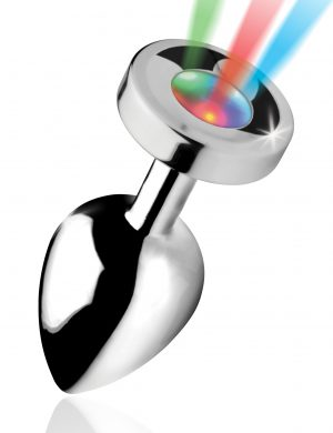 Shake your groove thing and light up the night This groovy booty plug features 3 LED light patterns to experience a slow