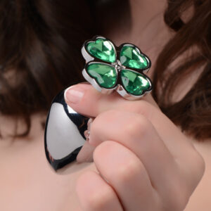 Make that booty get lucky with this hefty metal anal plug with a clover jewel design at the base Pop this lucky charm in your pot-o-gold to appreciate the comfortable weight inside your body