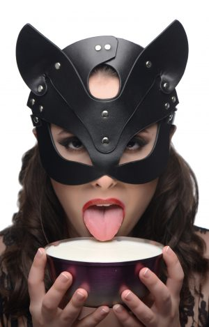 Act out your animalistic fantasies with the Naughty Kitty mask... Slip it on for a frisky foray with friends