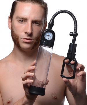 Achieve the kind of gains that you cannot get at the gym with this powerful penis pump Create a swollen erection that bulges with sensitivity  Slide into the silicone sleeve using a little water-based lube for sleekness. The tight opening will create a seal around your penis so that pressure can build within. The cylinder is textured for a firm grasp