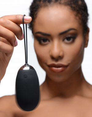 Subject your plaything to pleasure at your whim! This remote-controlled vibrator packs some serious power