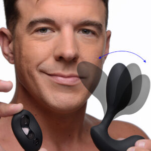 Experience the vibrating girth of a bulb stuffed in your hole while the perineum stimulator buzzes you from the outside. The 10x P-Flexer can be used with or without the remote control to cycle through 3 vibration speeds and 7 pulsation patterns