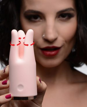 Elevate your erotic ecstasy with the smooth squeeze of vibration against your clitoris. This state-of-the art female pleasure tool will surround your sensitive little nub with 3 finger-like tendrils that automatically contract and constrict while humming powerfully. Discover 3 speeds and 7 patterns of intense simultaneous function