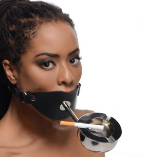 Transform your partner into a human ashtray with this evil device for forniphiliacs and smoking fetishists. This gag allows you to keep your slave or sub silent