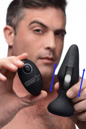 The tapered shape and slim body of this Thump It anal plug has been tried and tested to provide a fulfilling booty sensation with reduced discomfort! Featuring Thump-Its back and forth thumping Kinetic Technology to pulse and drum your backdoor with the perfect amount of force - amazing for solo play or using on a partner in combination with other naughty acts. Lube up and get your booty ready for a thumping good time!  The tapered tip makes this butt plug easy to insert and comfortable to play with for most skill levels. Choose from 7 patterns of thumping functions to rhythmically pleasure your or your partners booty! The included wireless remote controller makes it easy to play solo