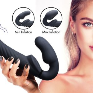 The swirly texture on this Ergo-Fit adds a new twist to your strap-on sessions! Insert the vaginal bulb and inflate for a snug hold on your new shaft - hold up this twisted dong with your kegel muscles and enjoy a gratifying fill and clitoral vibes in tandem and reward yourself with a blended orgasm as you thrust you parnter. This Swirly Ergo-Fit is velvety smooth