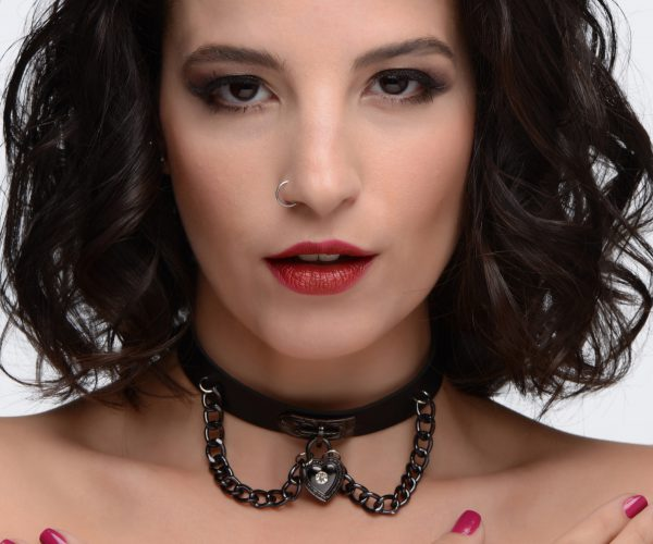 Put your gothic heart on display with this combination leather and chain choker! Sure to please those with a preference for the darker aesthetic