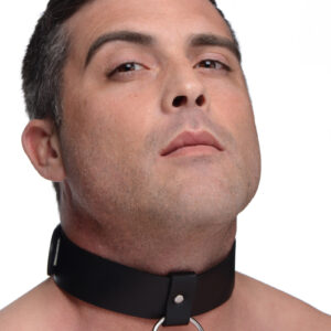 A BDSM Essential! This leather collar is wide