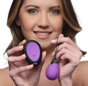 This powerful vibrating egg features a deep indentation to provide a satisfying edge meant to enhance the strong buzzing from this silky smooth delight! Enjoy 10 powerful vibrating functions