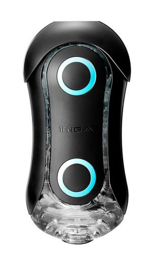 Get swept up in the rush of bounding blue orbs and angular ridges found inside the Strong Blue Rush Tenga Flip! The stimulation orbs are suspended in the softness of elastomer and provide a solid round texture for your member to rub against during use.  The hourglass shape and ergonomic design makes this masturbation device easy to use – the outer pressure pads allow for direct control so you can find the prefect squeeze and sensation
