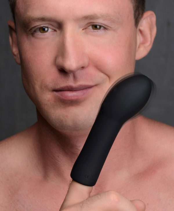 Slip on this Silicone Finger Sleeve and transform your finger into a satisfying vibe! Perfect for solo or partner use