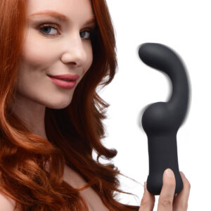 Get them hooked on anal with this pleasantly curved vibe Get hooked on anal with this pleasantly curved Pleaser Hook! The powerful vibration and plush body combine to provide a premium anal experience solo or with a partner. The huge curve and flexible body make it easy to provide intense stimulation to every angle of your backdoor